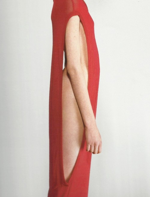 petrole:  hussein chalayan dress by horst diekgerdes for süddeutsche zeitung magazine, 20 february 1998