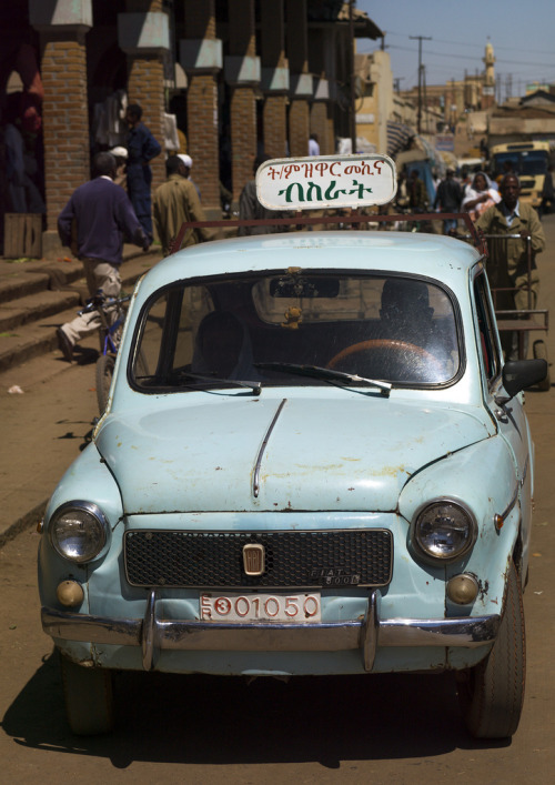 Driving School With Fiat 600, Asmara, Eritrea (by Eric Lafforgue)