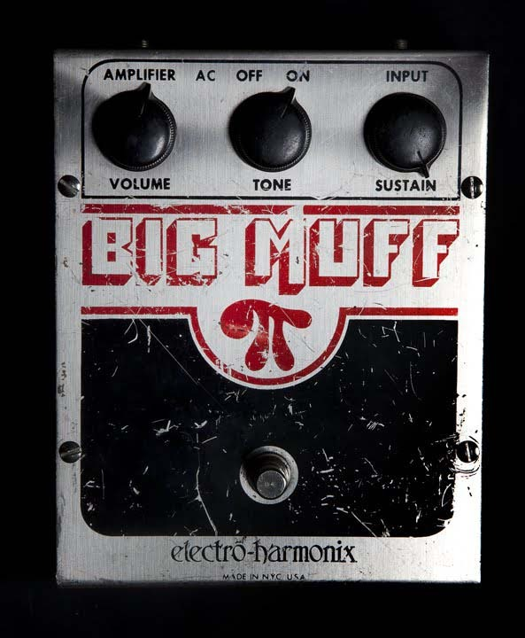 Billy Corgan's Big Muff displaying the settings used during the recording of Siamese Dream.