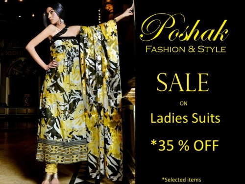 SALE on LADIES SUITS …. 35 % OFF