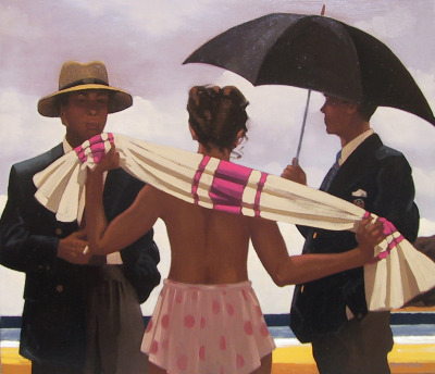 "felixinclusis:  benita-loca: Jack Vettriano ""Clouds Are Gathering"" Oil on canvas"