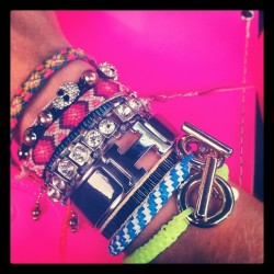 Get ya weight up, not ya hate up 😉 #armparty #bracelets #jewelry #swaggin #sparkle #gold #silver #hermes #noir #colorful #instagood #instamood #sundayfunday #weekend #style #boutit (Taken with instagram)