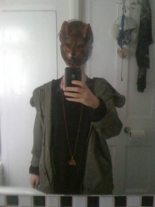 Does this mask make me sufficiently indie? Do I get to appear in music videos directed by that guy from the IT crowd? Masks are in, right?