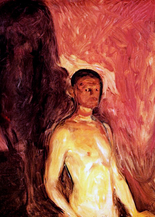 Self-Portrait in Hell, 1895, Edvard Munch