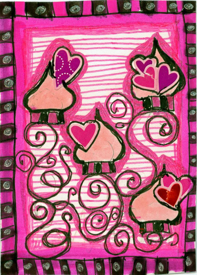 Cupcake ATC headed to Brooklyn.  I wish I was headed to Brooklyn!