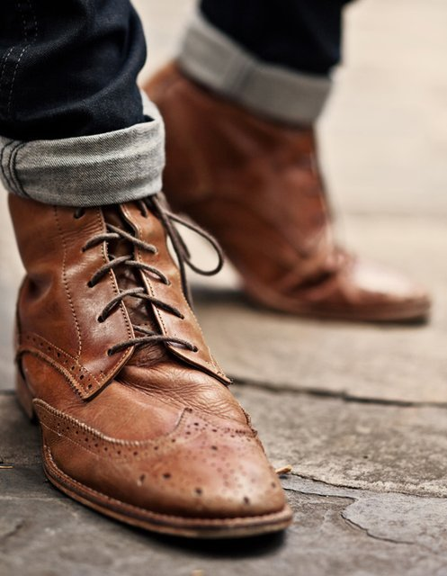 theblackworkshop:  Angus Tan Washed Lace Up Boot