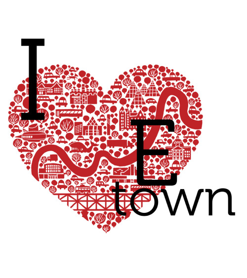 moosefetish:  jason blower's 'i heart etown' illustration