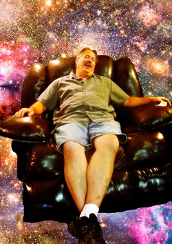 """Died and Gone to Heavin"" In a Comfy Chair. Model: My father Tools: Photoshop PLEASE DO NOT DESTROY"