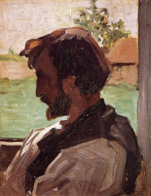 cavetocanvas:  Frédéric Bazille, Self Portrait at Saint-Sauveur, 1867