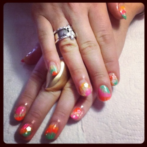 fleuryrosenails:  Taken with Instagram at Tomahawk Salon