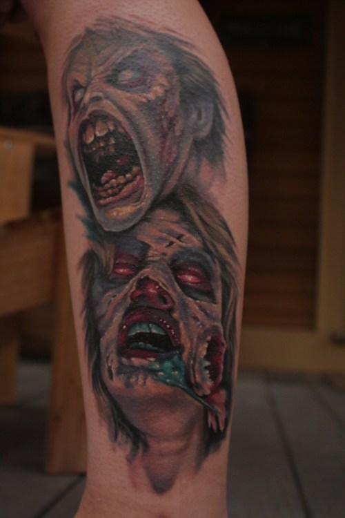 Done by Evan Olin at Powerline tattoo Cranston RI (The Evil Dead 1 & 2)