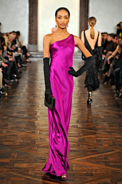 Jourdan Dunn at Ralph Lauren F/W 2012-13.