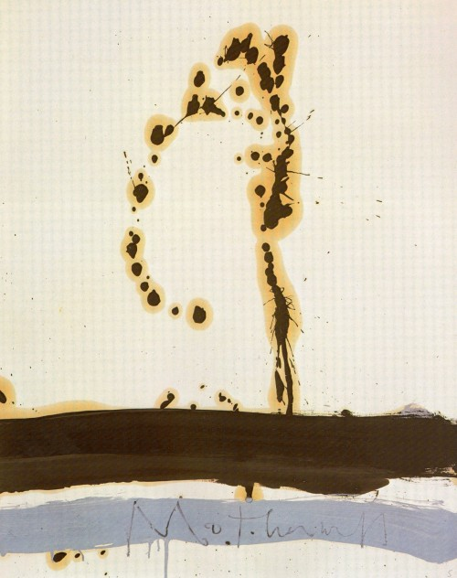 theexpressiveimpulse:  Robert Motherwell, Beside the Sea No. 5, 1962, Artist Estate