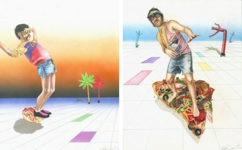 pizzapartypwr:  dudes on pizza // michelle devereux