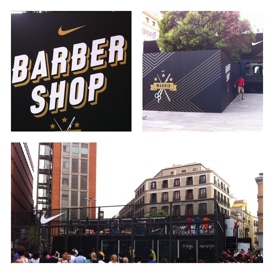 canardcanard:  Barbershop Nike in Madrid