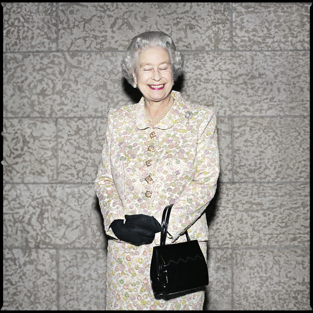 nedhepburn:  Queen Elizabeth II by Christopher Wahl.  …she smiles?