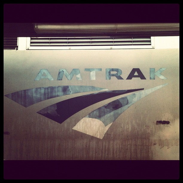 Worn Amtrak logo passing though Richmond.  (Taken with instagram)