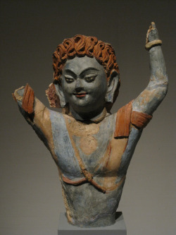 yingce:  Uighur Turkic Demon, 9th ct. Museum for Asian Art - Berlin.