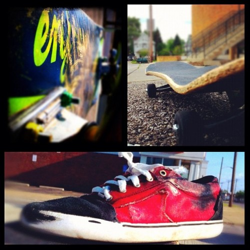 My #westside  #skateboard  and #dekline  #skateshoes . (Taken with instagram)