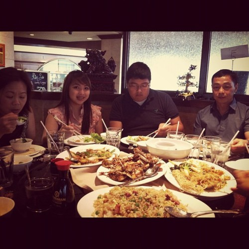 Family at Kim Son for selenas graduation (Taken with instagram)