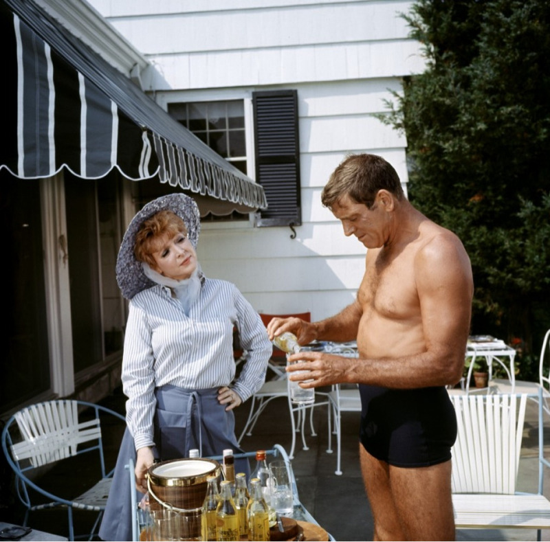 "And one more ode to Cheever. Here's a still from ""The Swimmer,"" starring Burt Lancaster and based on one of Cheever's most well-known stories. I haven't seen the movie or read the story, not in the traditional sense of reading. But I did listen to an audio version of it from The New Yorker."