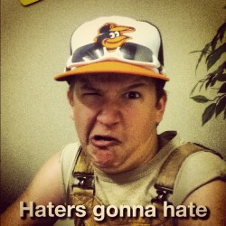 Haha @zyan_the_boss #haters #hatersgonnahate #hate #hatorade #dislike #boo #sneaky #iphone #surprise #superduper #funny #gram #party #fun  #  (Taken with instagram)