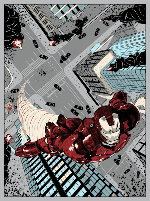 fyeahsuperheroes:  I AM IRON MAN            BY:                   NEW FLESH PRINTS