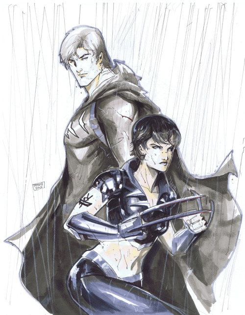 thehappysorceress:  petervnguyen:  Catman , scandal savage. Two character who are sorely missed in the new 52 and from my pull list. Also I realized that i am fortunate enough to draw both catman and catwoman for dc. Cat crossover for everyone! Also cya guys in sydney and perth this month! http://ink4884.deviantart.com/#/d52atop higher res link to my d.a  LOVE.