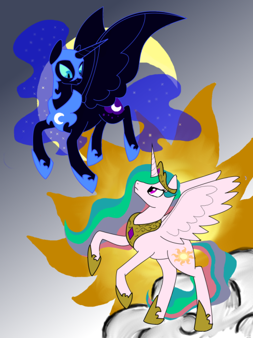epicbroniestime:  Celestial Battle by ~DerpyChaos