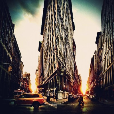 sunset over 16th & 17th St. NYC. [via model Coca Rocha]