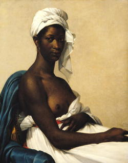 mesbeauxarts:  Marie-Guillemine Benoist. Portrait of a Negress. 1799-1800. Oil on canvas. Musée du Louvre. Paris, France.