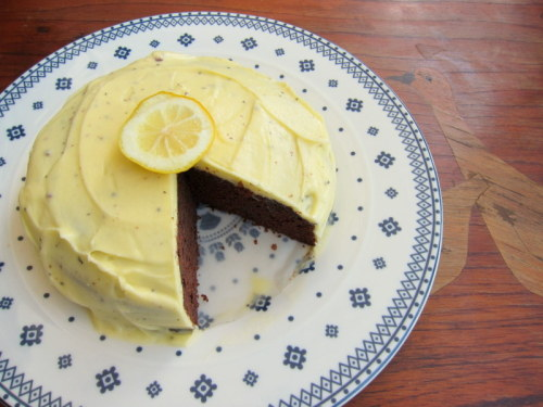 foodfuckery:  jsssy submitted: Earl Grey Chocolate Cake with Lemon Earl Grey Buttercream  Earl grey with chocolate AND lemon at the same time? Someone should make this so I can try a bite, because without tasting it, I'm really unsure of it.