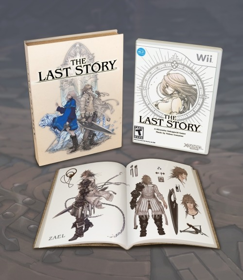 The Last Story Gets a Limited Edition Hironobu Sakaguchi's newest game, The Last Story, is getting a pretty neat limited edition. All copies of the game's first printing will include a soft-cover art book and display box. This almost makes up for the fact that North America didn't get the sweet Xenoblade limited edition with the red Classic Controller Pro.
