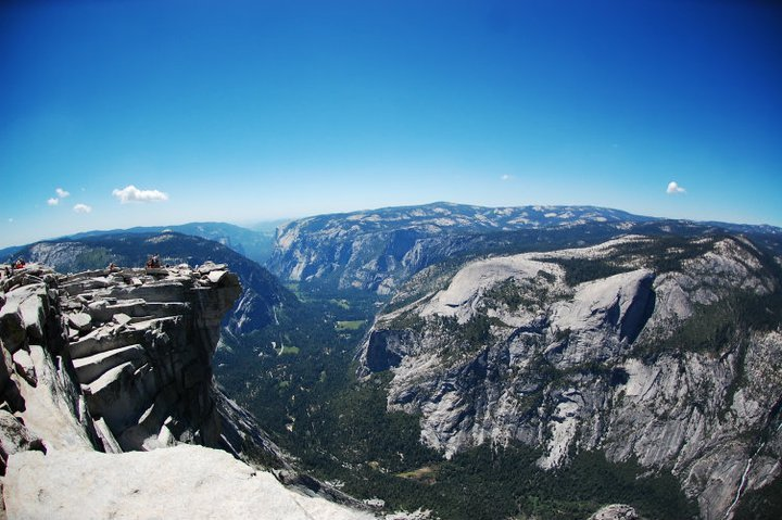staringintoanemtpyfridge:  On top of Half Dome in Yosemite, California.