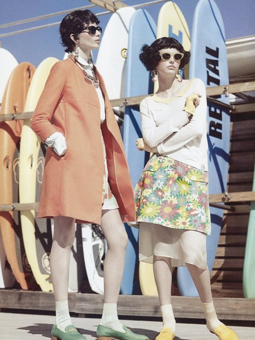 Monika Sawicka and Karlina Caune for Vogue Italia May 2012 by KT Auleta
