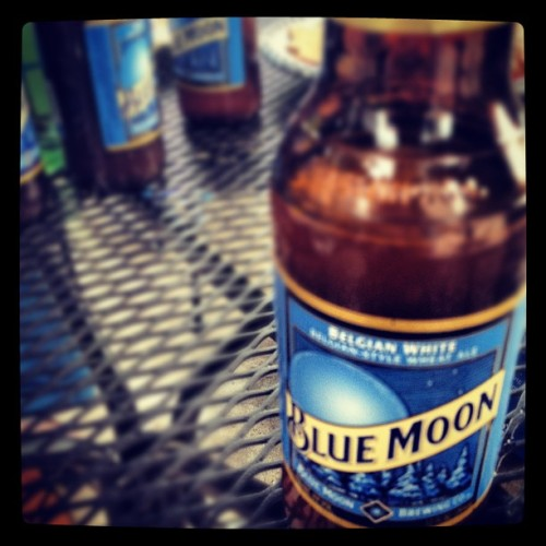 Summer means Blue Moon time :)  (Taken with instagram)
