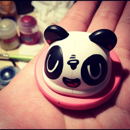 Another Derp Panda head :) #podgonauts #everynightartdorks  (Taken with instagram)