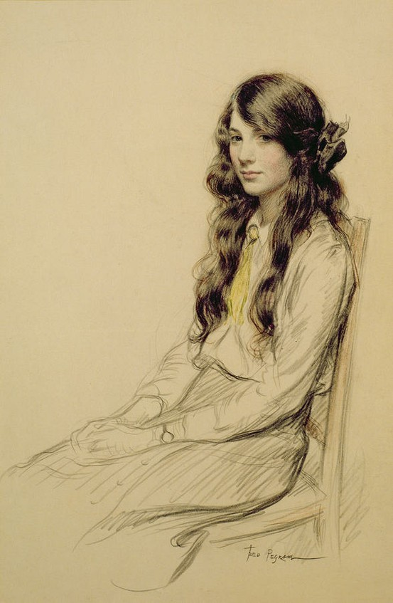 labellefilleart:  Portrait of a Young Girl, Frederick Pegram