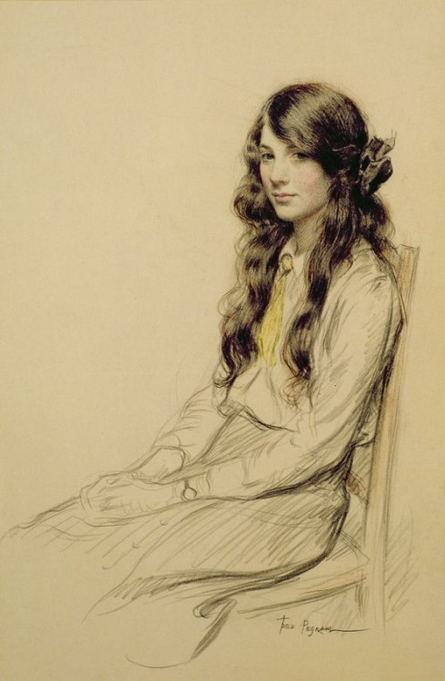 labellefilleart:   Portrait of a Young Girl, Frederick Pegram    Please God, can i be This talented?