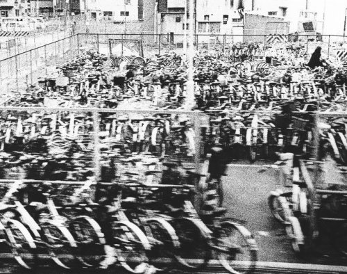 Yamasaki Ko-Ji:  awaji? osaka. bicycle-parking area.