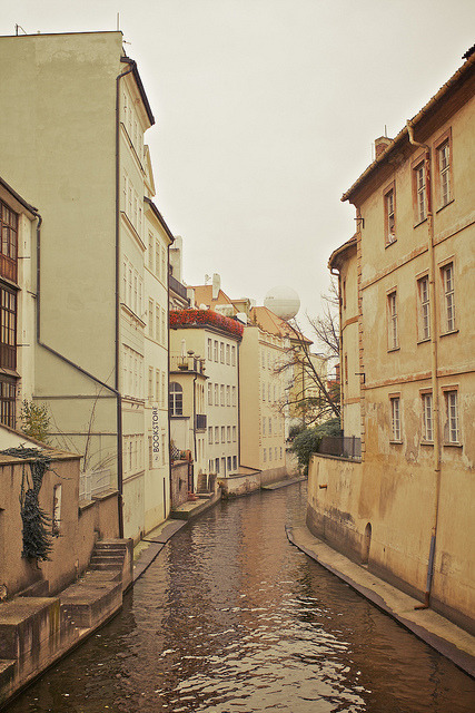 | ♕ |  Canal to the Vltava - Malá Strana, Prague  | by © Jurassic-O | via ysvoice
