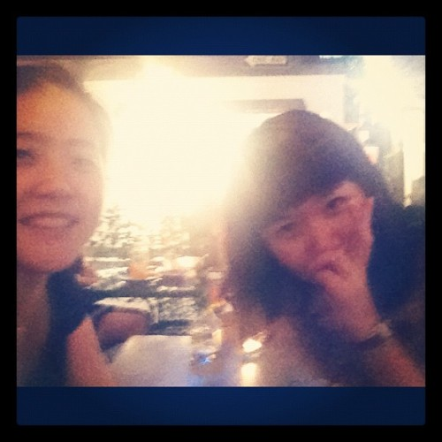 Blurry selca 현지랑!  (Taken with instagram)