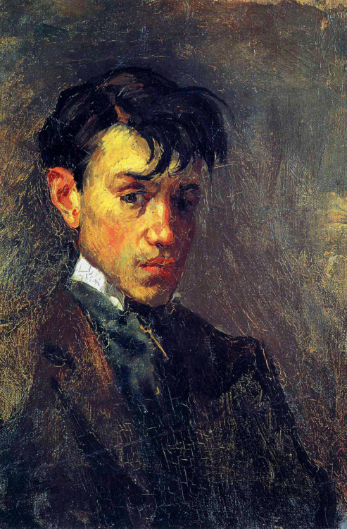 ryandonato:  Pablo Picasso's first self-portrait