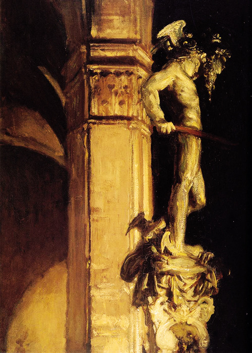tamburina:  John Singer Sargent, Statue of Perseus by Night