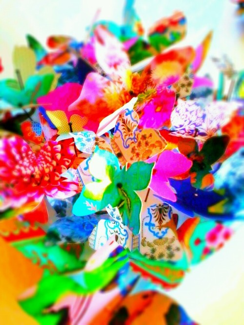 'catalogue of butterflies'_vibrance_2012 recycled paper