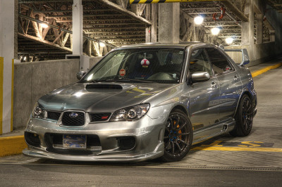 gdbracer:  2007 UGM STi by Clement C on Flickr. Crazy HDR, it looks chrome.