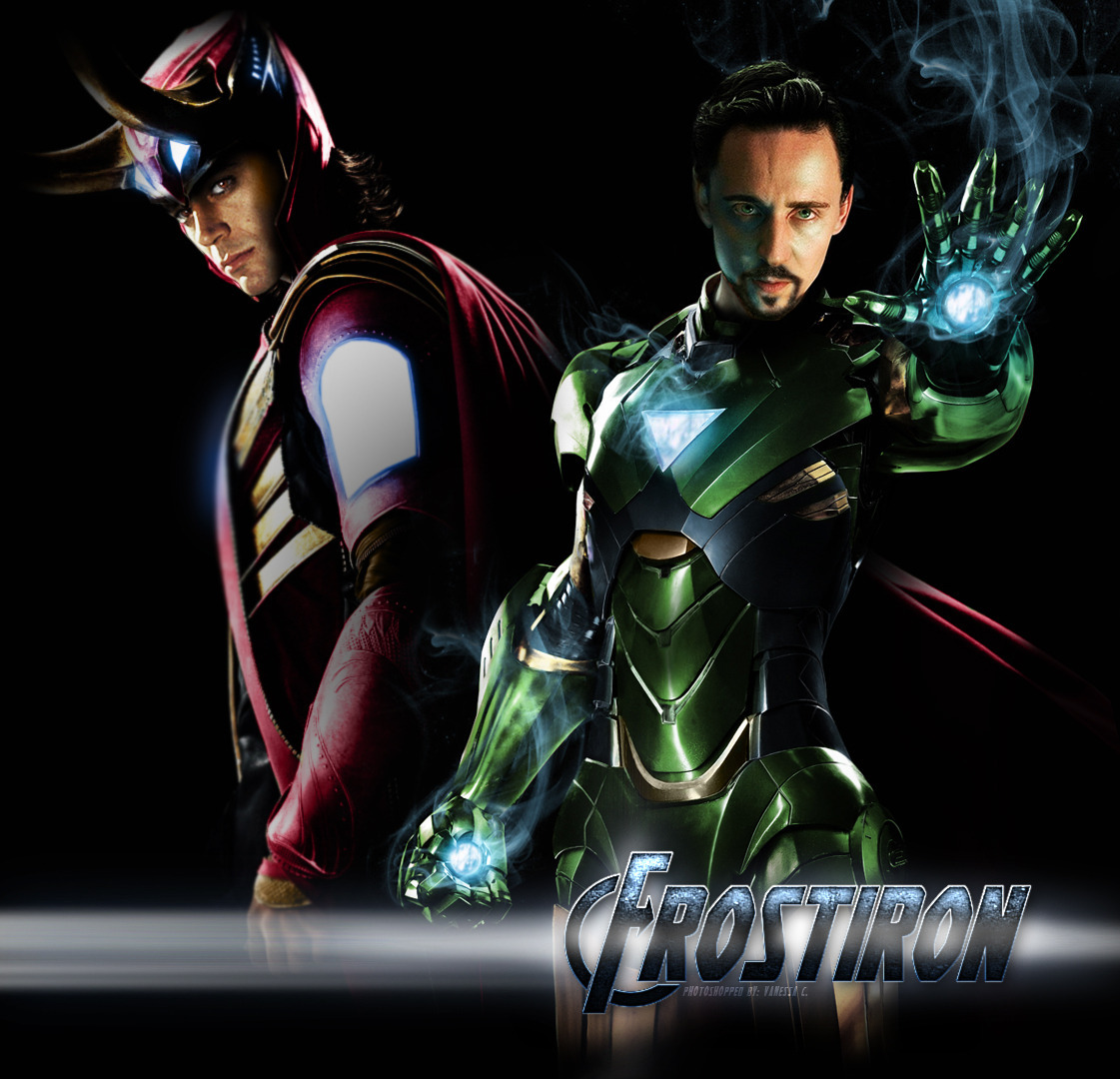 vc-ness:  oops i accidentally loki and stark role reversal Inspiration from this fascinating little AU art batch and approximately two fics also inspired by that. I'll probably post separate versions on their own in the near future + maybe some assembled shots together of how it was done. (Click photo to find a desktop version)
