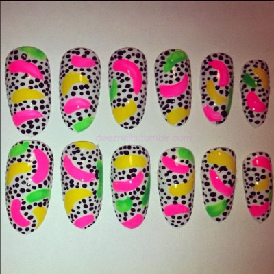 far from traditional.. #deeznails #nailart #nails #nailswag #vancouver  (Taken with instagram)