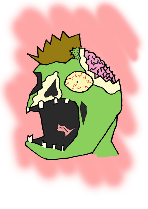 Someone asked me to draw them a zombie. Here he is.