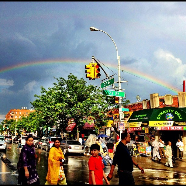 Somewhere over the rainbow (and after the 2012 Queens Pride parade), 37th Avenue.